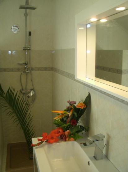 salle de bain à l'étage de la location