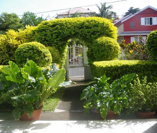 une des entrées de la villa