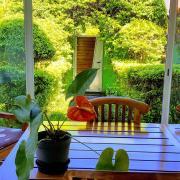 vue de la grande varangue du meublé