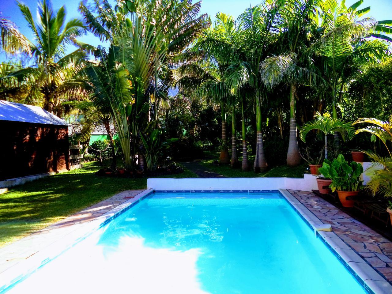 la piscine de 9 m sur 4 m