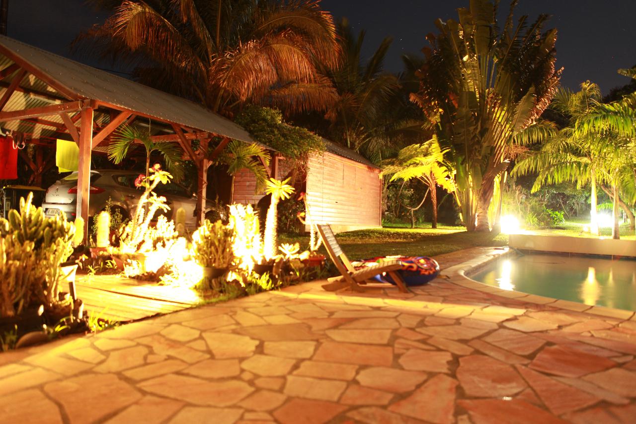 jardin de nuit de la location