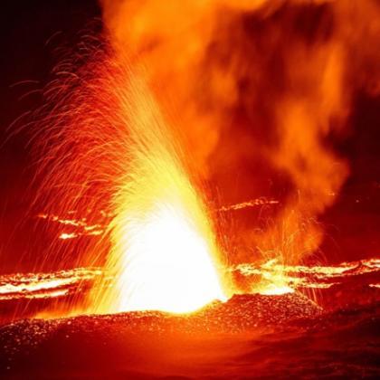 Piton de la Fournais: eruption in July 2015