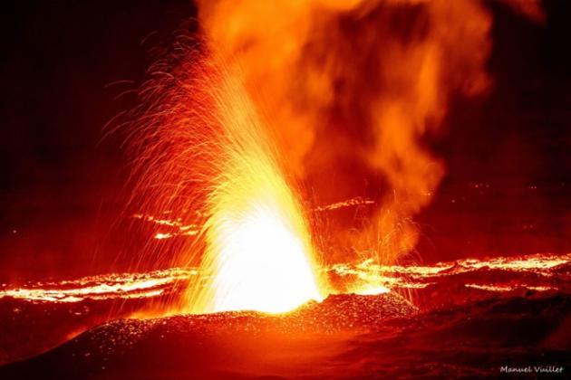 Piton de la fournaise : éruption juillet 2015